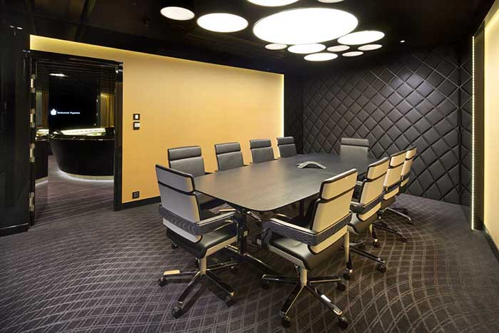 Wall treatment ideas for the conference room for Office design guidelines uk