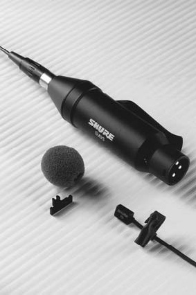 hand held microphone