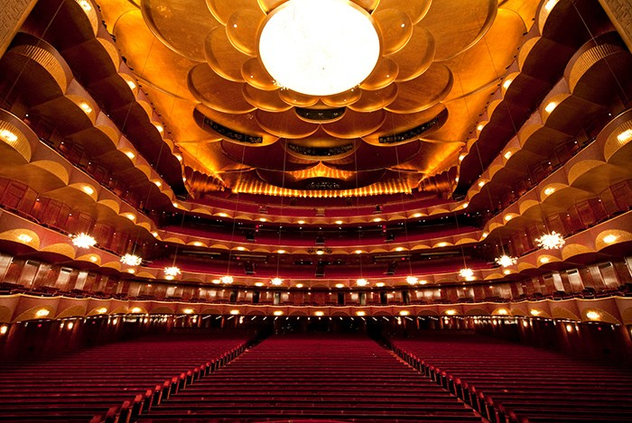 The auditorium of the Metropolitan Opera House in New York City. Photo: Jonathan Tichler/Metropolitan Opera